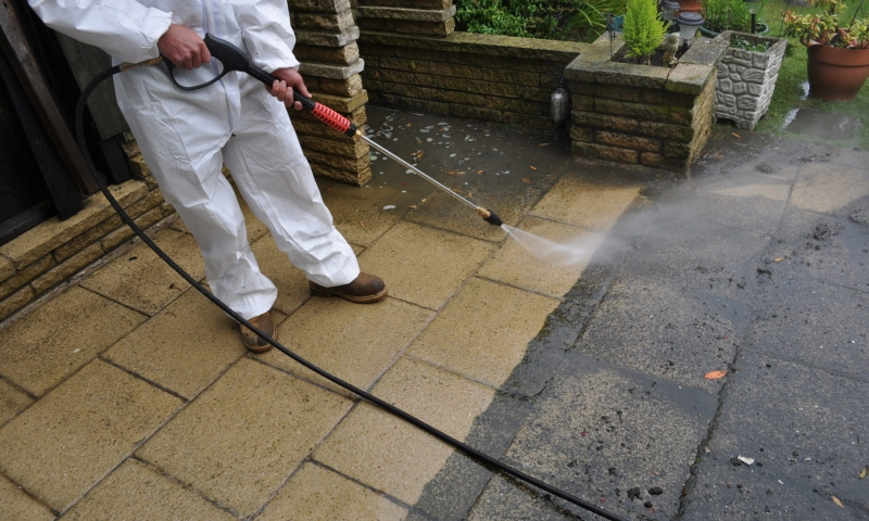 pressure wash drain cleaning