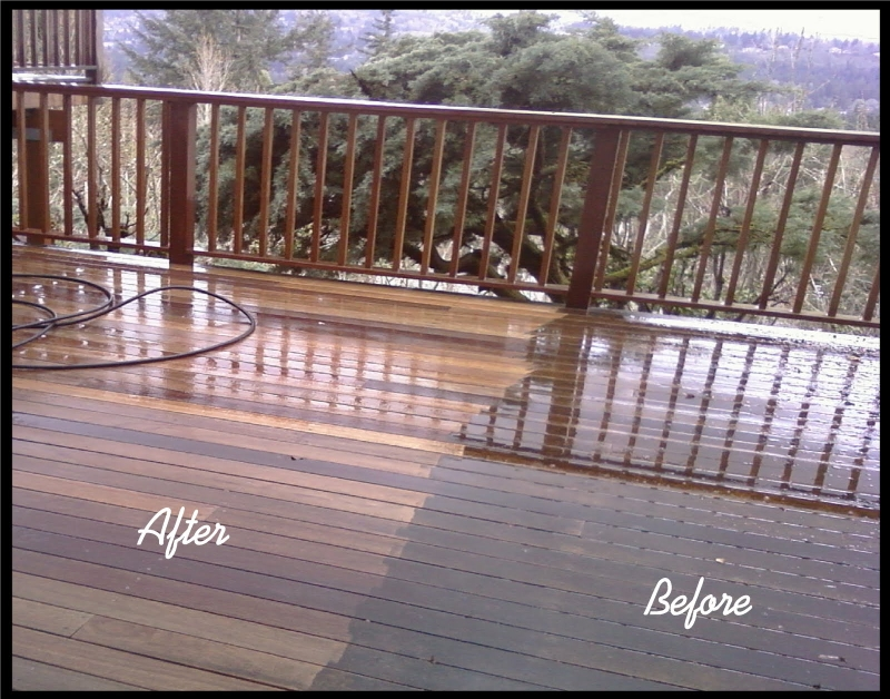 pressure wash patio