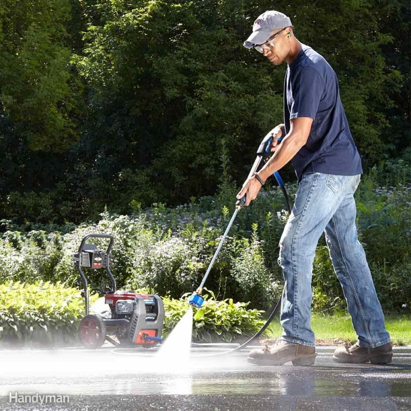 best way to pressure wash concrete