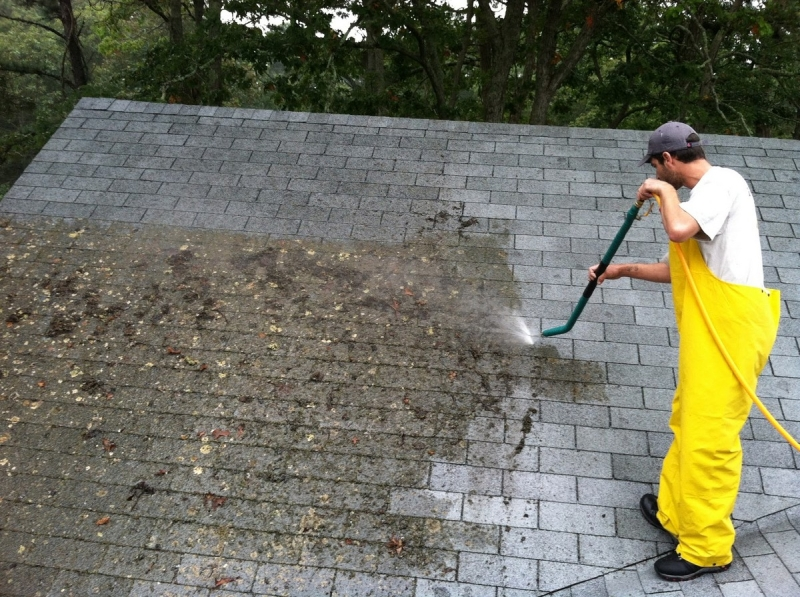 Pressure Washing Home in Del Mar Heights of San Diego County